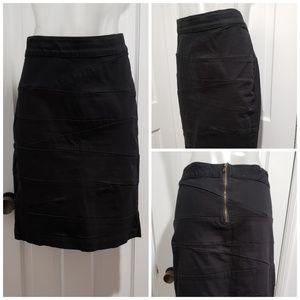 Lane Bryant Black Denim Skirt